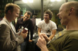 SPECIAL TO THE  ROCKY MOUNTAIN NEWS CODER-- From right, Isaac Slade, David Welsh, and Joe King,...