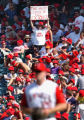 052777.ME.0914.baseball-Angels vs. Texas-An Anaheim Angels fan cheers on the team during their 8-6...