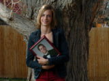 (LITTLETON, CO., APRIL 16, 2004) Maggie Ireland, 18, a senior at Columbine High School won one of...