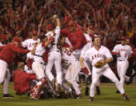 054983.SP.1027.angels.WJS--ANGELS/GIANTS...The Angels have reason got celebrate. Winners of the...