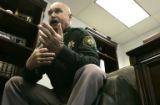 Jefferson County Sheriff Ted Mink (cq), speaks in his office Monday afternoon June 19, 2006, about...