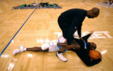(Minneapolis,CO - Shot on 4/19/04)  Denver Nuggets' assistant strength and conditioning coach Rich...