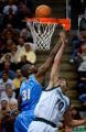 (Minneapolis,CO - Shot on 4/21/04)  The Denver Nuggets' Nene (#31) tries unsuccessfully to block...