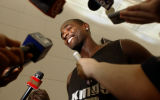 Sacramento Kings player Chris Webber makes himself available to the media Thursday afternoon...