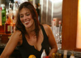 KAS039 Lisa Nieto (cq) works as a bartender at Rialto Restaurant on the 16th Street Mall on...
