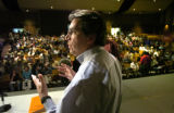 (Westminster, CO, Shot On 4/14/04--) Hundreds of people take their seats as Rick Garcia, City...
