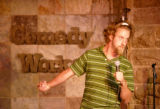 KAS382 Josh Blue (cq) performs at Comedy Works on Friday, June 23, 2006. Blue has cerebral palsy,...