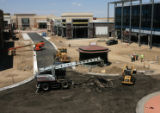 Work continues on the Northfield Stapleton retail area Tuesday afternoon June 27, 2006 in Denver,...