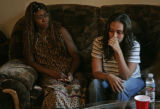 The Mother and girl friend of Michael Ford, Felecia Ford (cq), left, and Renee Orr (Cq), 28,...