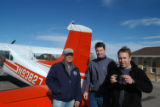 ED DENTRY Division of Wildlife pilot Dave Younkin, left, and waterfowl biologist Todd Sanders,...