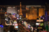 (NYT26) LAS VEGAS -- June 14, 2004 -- CASINO -- The Las Vegas strip from the roof of the Mandalay...