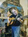 Boulder, CO Jan. 28, 2006 San Franciso folk-musican Steve Seskin tunes his guitar before...