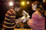 (NYT76) FULTON, Mo. -- Feb. 10, 2006 -- MO-SCHOOL-PLAY -2 -- Fulton High drama students, Jon...