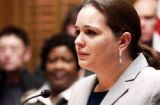 DENVER., Colo., Feb. 21, 2006) Jennifer Jones, sister of Trevor Jones, who is serving life in...