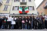 It seemed as though the entire town of Settimo Torinese turned out Wednesday February 8, 2006 to...