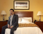 **1/18/06** Walter Isenberg, president and CEO of Sage Hospitality Resources at the new Marriott...