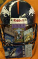 Four original Super Bowl tickets within a Jake Plummer autographed helmet. Helmet, $350 and the...