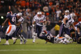 Game Action in the 1st quarter of the Denver broncos against the New England Patriots at Invesco...