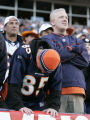 233 Broncos fans Zach Hansen, cq, left, and his brother Josh Hansen, cq, Aurora, show dejection as...