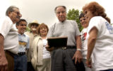 (DENVER , CO., June 27, 2004) Taken at Berkley Park in Denver.   Richard Lucero, Julian Chavez,...