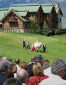 (DENVER, CO.,  Shot June 27, 2004)  Sharon Magness and Ernie Blake marriage ceremony in...