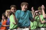 Sam Papke (CQ), 14, of Lakewood's' D'Evelyn Junior Senior School and Colorado Children's Chorale...