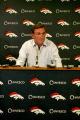 Broncos head coach Mike Shanahan conducts his end-of-season media conference Tuesday afternoon...