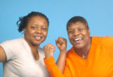 **1/17/06** Frst cousins Qualanda Maxwell (in orange) and Nichole Taylor (in gray) Fitness...