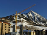 The construction of Mountaineer Square is the ski village continues Wednesday afternoon January...