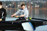 Taylor Ritzel, who has earned a scholarship to Yale as a rower. She started out as a swimmer...