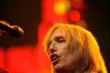 Tom Petty(cq), lead singer of Tom Petty and the Heartbreakers, plays at the Pepsi Center in Denver...