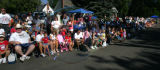 A bubble floats down 10th Ave. during The Greeley Stampede Independence Day parade Tuesday July 4,...