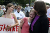 Diana Degette and her daughters got together after the two children had hastily spraypainted some...
