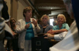 Senate President Joan Fitz-Gerald, left, (D-Coal Creek Canyon), Betty Boyd (D-Lakewood), center,...