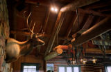 Inside the Elk Lodge at Smith Fork Ranch in Crawford, Co. where guests can relax with a drink,...