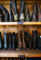 A selection of men's and women's cowboy boots available to guests for their stay at Smith Fork...
