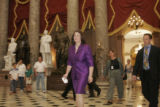7/18/06 - Washington D.C. - Rep. DeGette walks through Statuary Hall for a meeting in the U.S....
