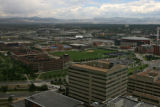 This is the view looking west from the 30th floor of the Inn At Auraria ,14th and Arapahoe...