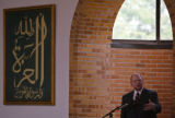 KAS134 Raed Tayeh (cq), public relations director for the Muslim American Society, gives a sermon...