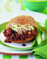 Chipotle Sloppy Joe and Cole Slaw sandwich. Healthy Beef, a new cookbook by former Little Nell...