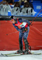 U.S. skiier Ted Ligety takes a bow for the crowd after finishing the Men's Combined Slalom Second...