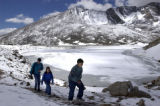 (Arapaho National Forest, Colorado... July1, 2004) (L-R)  Jeff Kurkowski and his two children...
