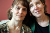 (Denver, Colorado, 2/15/2006)  Val Stepien (rt)  and Judi Von Gaia (lt) have been in a domestic...