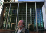 Bob Dougherty, arrives at the Alfred A. Arraj United States Courthouse on Friday morning, March 3,...