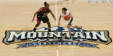 JPM539  No. 9-seed San Diego State Aztecs forward Shanna Demus, left, guards No. 8-seed Colorado...
