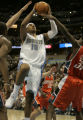 Carmelo Anthony drives against the entire team of the Bobcats in the second period  and is fouled...