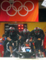 Steven Holcomb, right, Curt Tomasevicz (behind Holcomb), Bill Schuffenhauer, left, and Lorenzo...