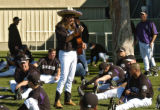 Zack Parker, LHP, was chosen to entertain the Rockies before practice Friday morning February 24,...