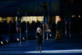 Canadian singer Avril Lavigne performs during the Closing Ceremony for the 2006 Winter Olympics...
