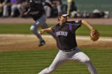Rockies  pitcher Zach Day got in some game pitching Monday afternoon February 26, 2006 at Hi...